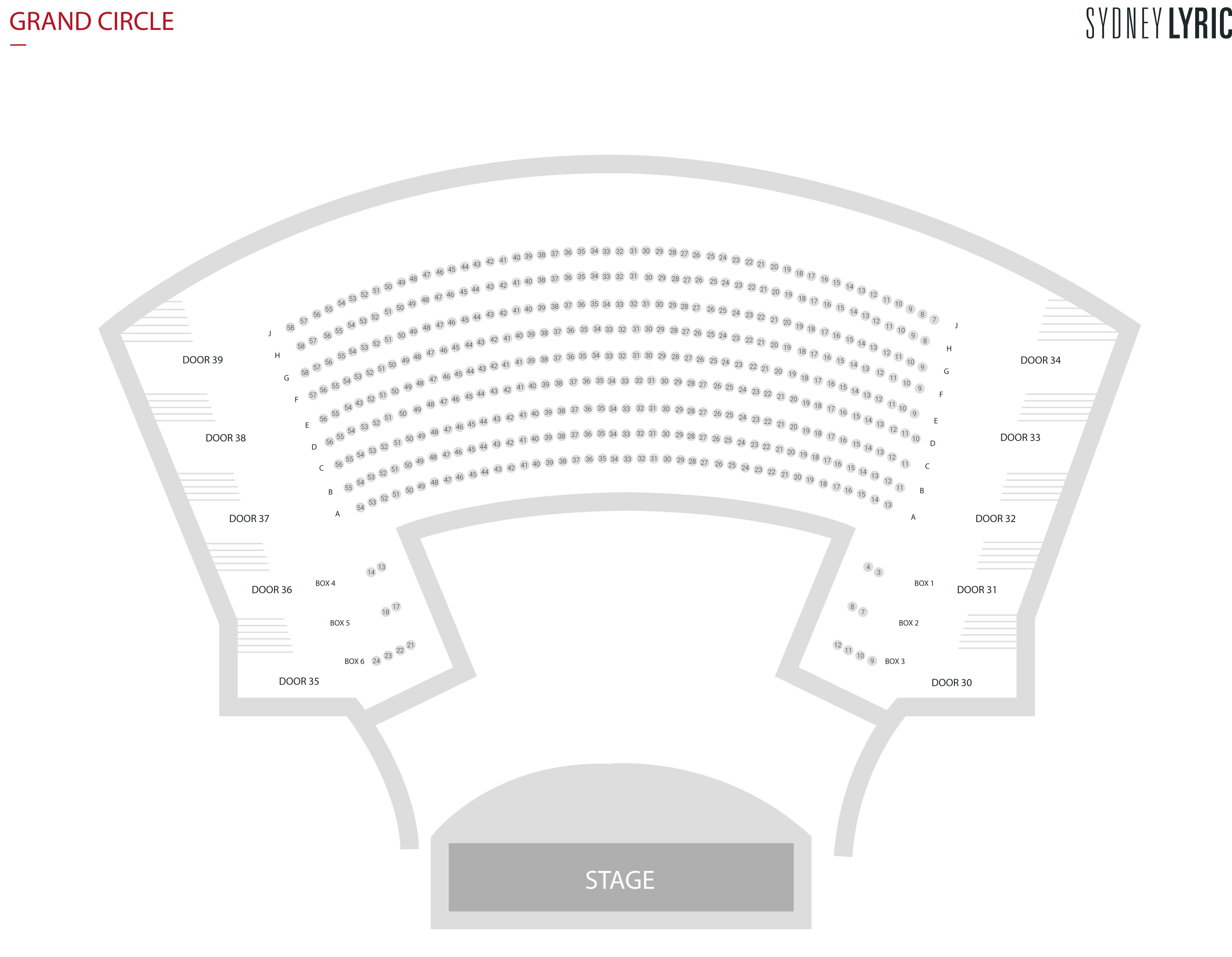 View r Seating Plan